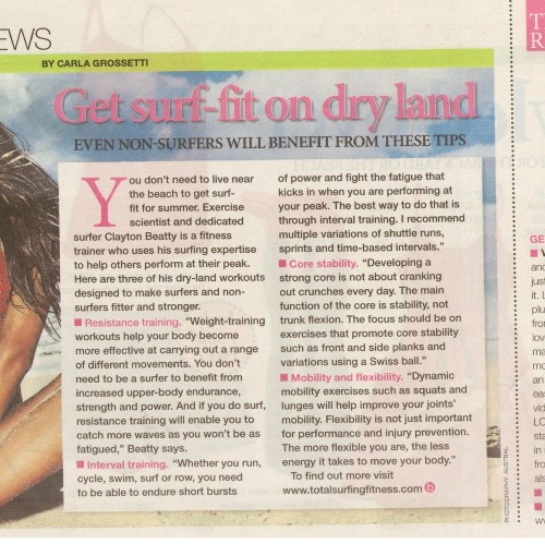 newspaper article on fitness